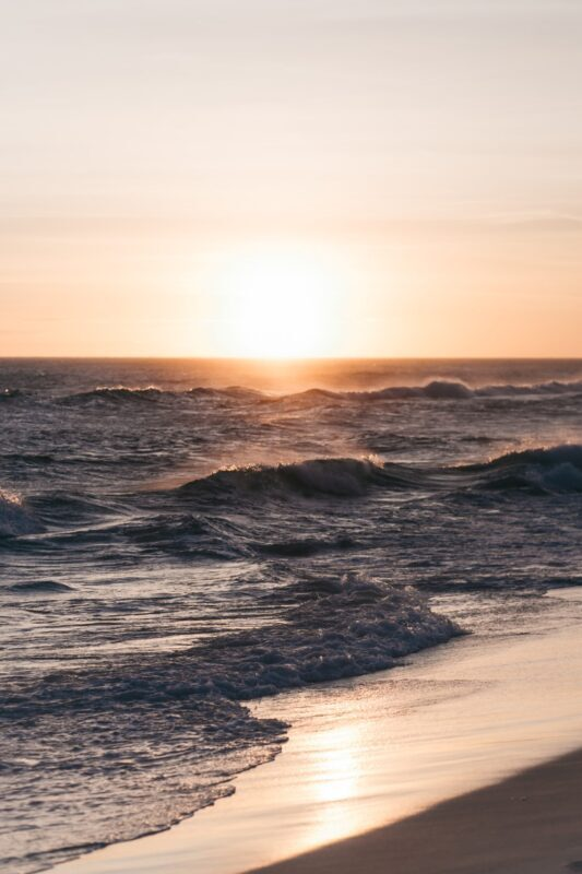 photo horizontale de plage