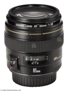 objectif canon 85mm 1.8