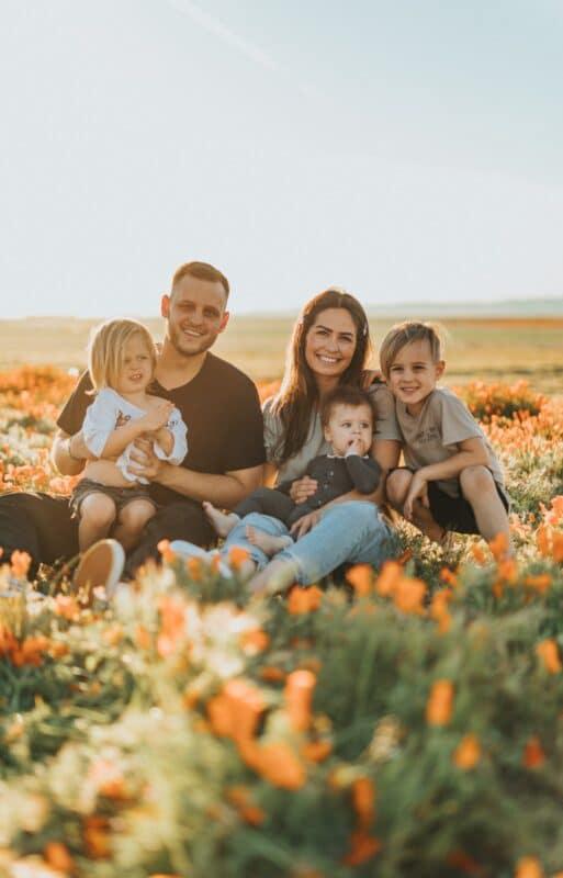 photo famille dans la nature