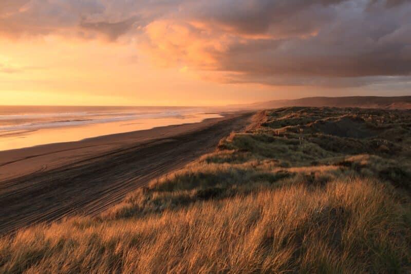 belle photo de coucher de soleil